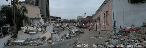 Edifícios derrubados na Travessa da Mutamba