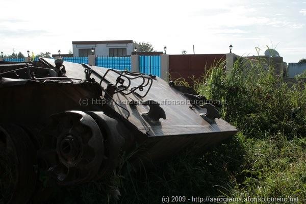 Tanque destruído