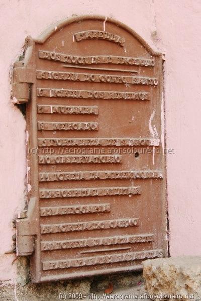 Antiga tabela dos toques de incêndio