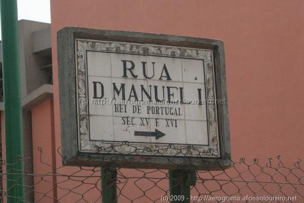 Placa toponímica da Rua D. Manuel I