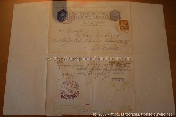 Biglietto postale per le forze armate