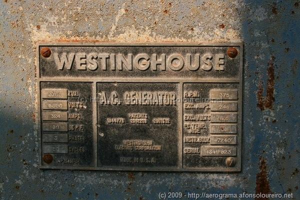 Chapa característica Westinghouse