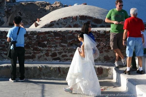 Noiva japonesa em Santorini