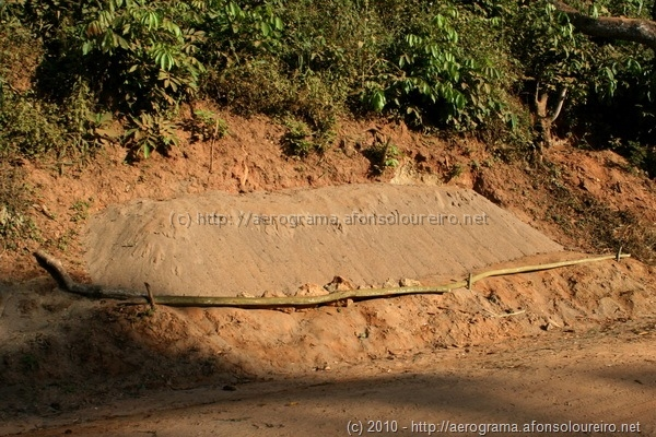 Areia de rio a secar