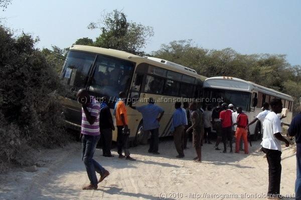 Autocarros encravados