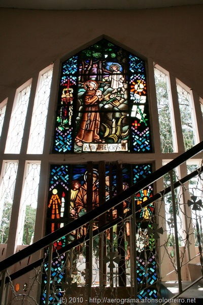 Vitral na Igreja do Caxito