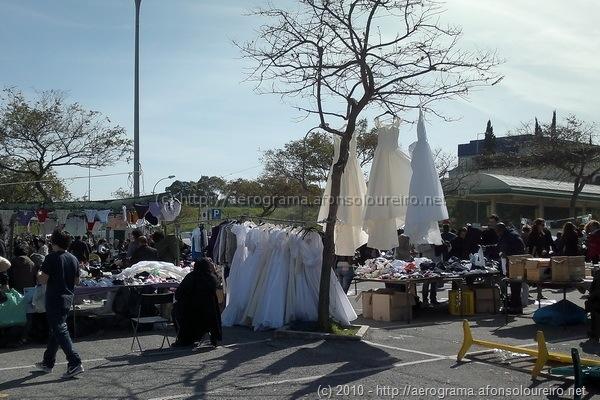 Vestidos de noiva na feira